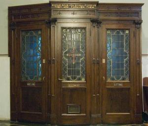 Saint Cecilia, in Saint Louis, Missouri - confessional