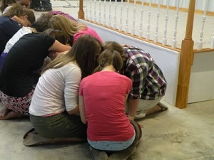 our girls praying