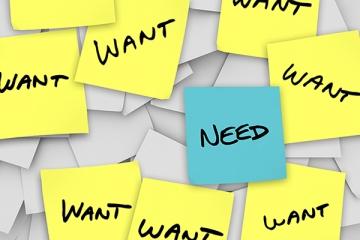 want-v-need